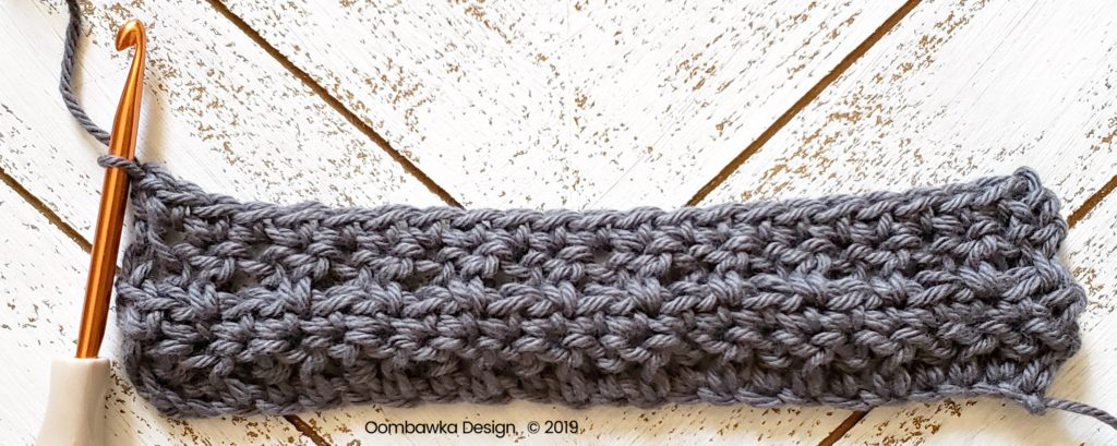 Tranquil Washcloth Row 4 Oombawka Design Crochet