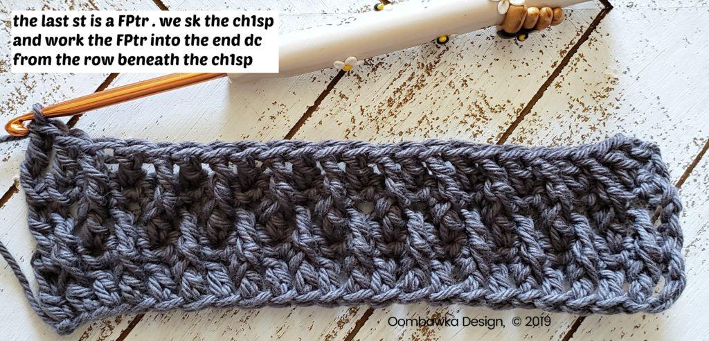 Tranquil Washcloth Row 5b Oombawka Design Crochet