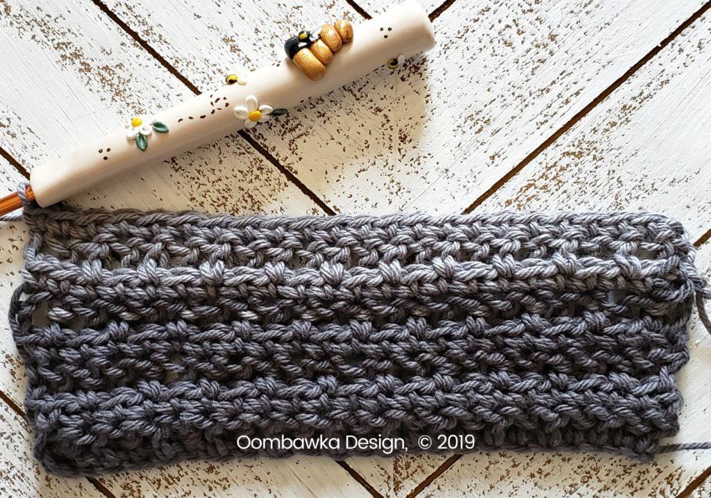 Tranquil Washcloth Row 8 Oombawka Design Crochet