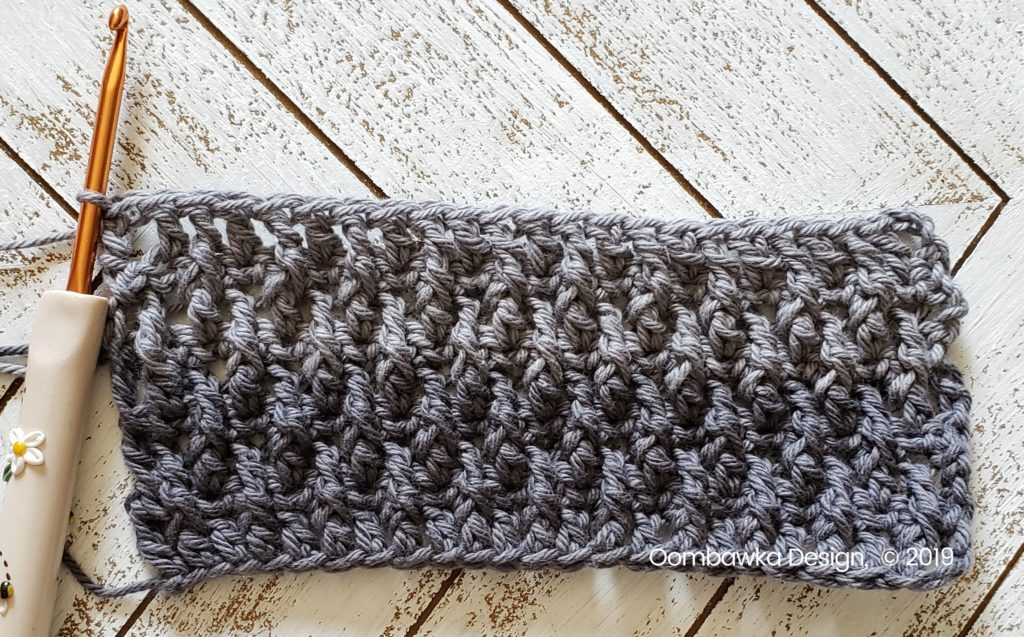 Tranquil Washcloth Row 9 Oombawka Design Crochet