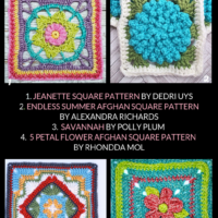10 Free Crochet Granny Square Patterns - Roundup of Free Patterns by Oombawka Design Crochet