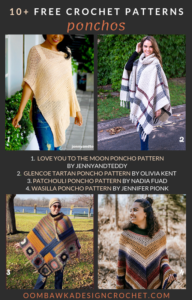 10 Free Crochet Poncho Patterns Roundup by Oombawka Design