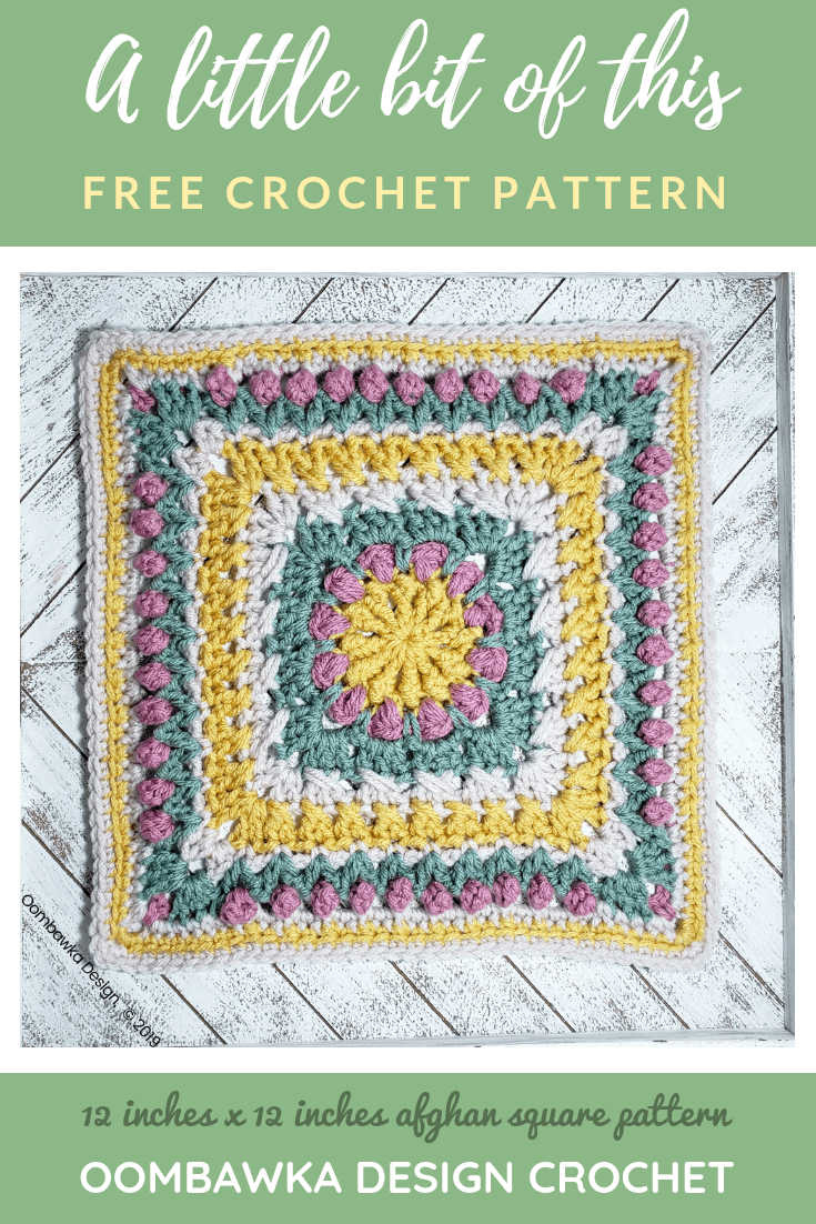 A Little Bit of This Afghan Square is tech edited, includes a stitch diagram and was designed exclusively for #bamcal2019 #redheartyarns #joycreators