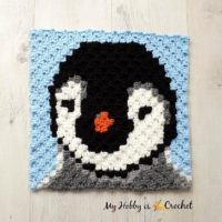 Featured at Wednesday Link Party 310: Baby Penguin C2C Square - Free Crochet Pattern by My Hobby is Crochet