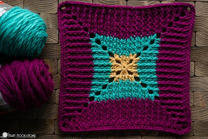 Butterfly Vibe Square Pattern
