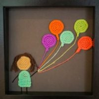 Featured at Wednesday Link Party 309 Crochet Painting by Hooks and Loops