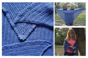 Deep Blue Beginner Shawl odc