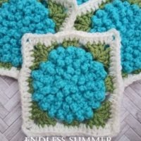 Featured at Wednesday Link Party 309 Endless Summer Afghan Square Pattern