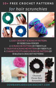 Free Crochet Scrunchie Patterns - Free Pattern Friday Roundup Oombawka Design Crochet