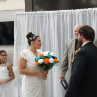 Featured at Wednesday Link Party 307: My Crocheted Wedding Dress and Bouquet from EyeLoveKnots