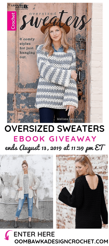 Oversized Sweaters Leisure Arts Book Review and Giveaway ends August 13 2019 1159 ET