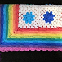 Rainbow Droplets Babyghan Pattern