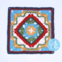 Savannah Afghan Square Pattern