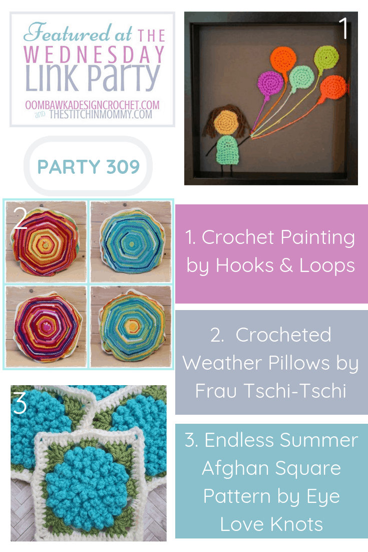 The Wednesday Link Party 309 Features a DIY Crochet Painting