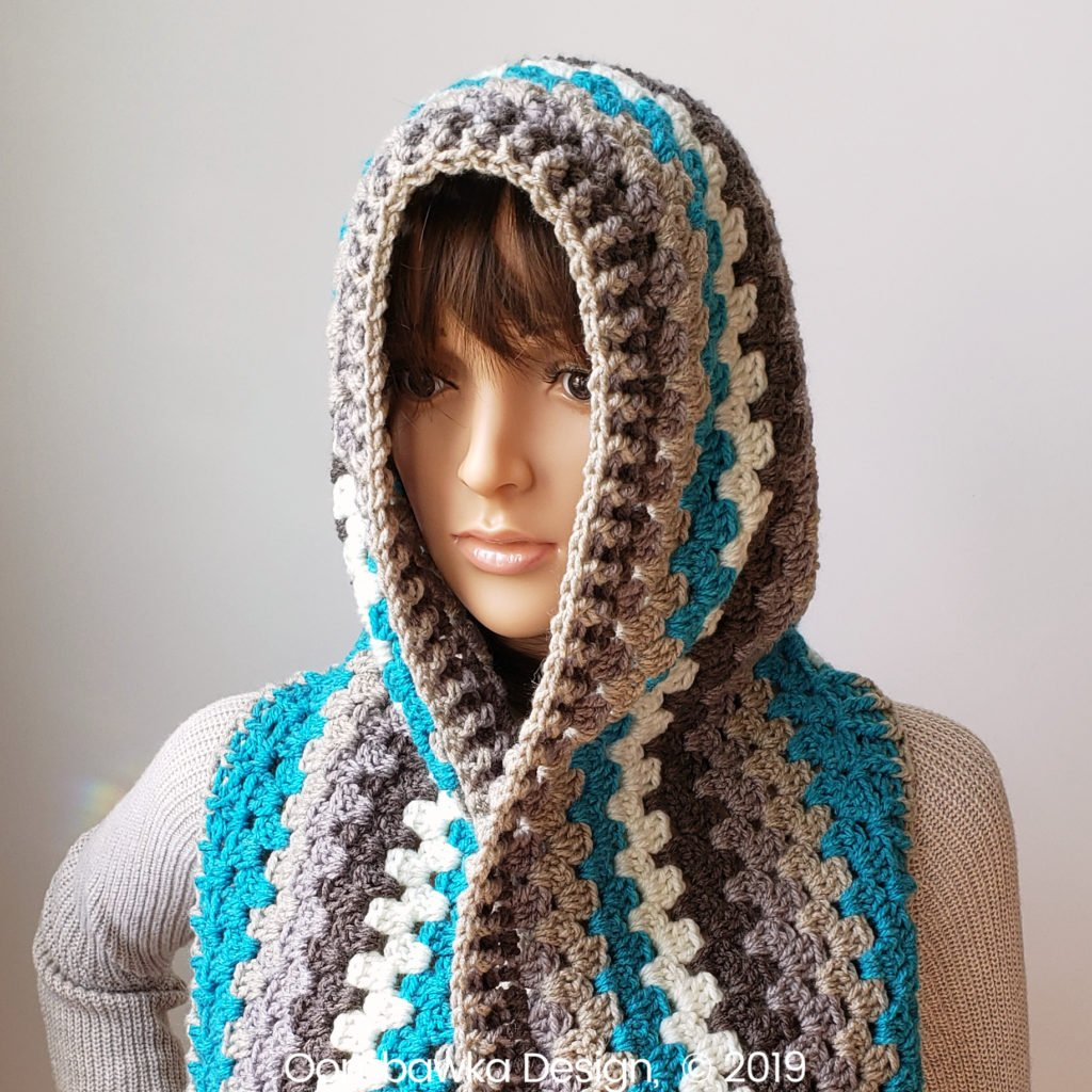 Winter's Coming Hooded Scarf Oombawka Design Crochet