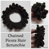 Chained Picots Hair Scrunchie Pattern
