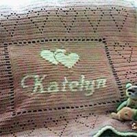 Personalized Name Baby Afghan Pattern