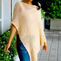 Love you to the moon poncho pattern