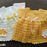 Crochet V-Shell Baby Dress Pattern