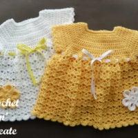 Crochet V-Shell Baby Dress Pattern