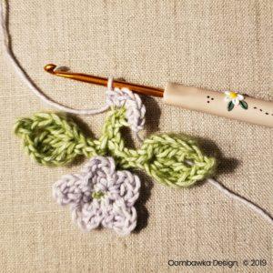 12 Flowers Pretty Posies Square Oombawka Design Crochet