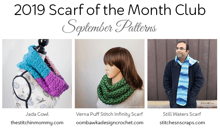 2019 Scarf of the Month Club Scarf patterns