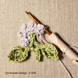 4 Flowers Pretty Posies Square Oombawka Design Crochet