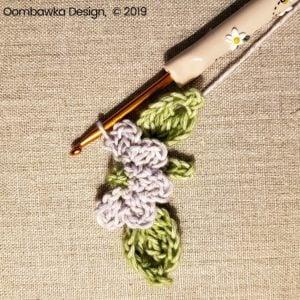 5 Flowers Pretty Posies Square Oombawka Design Crochet