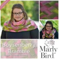 Single Crochet Entrelac Cowl Pattern by Marly Bird