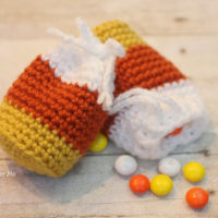Crochet Candy Corn Pouch Pattern
