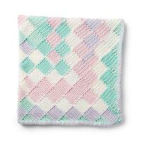 Caron Entrelac Crochet Baby Blanket Pattern by Yarnspirations