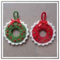 Easy Christmas Wreath Ornament Pattern