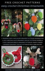 Easy Crochet Christmas Ornaments Free Patterns Free Pattern Friday Oombawka Design Crochet