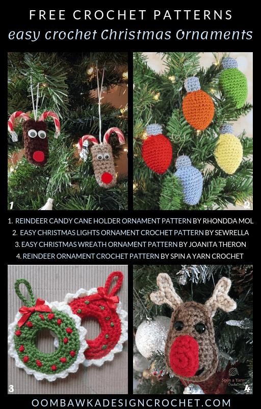 Easy Crochet Christmas Ornaments Free Patterns Free Pattern Friday Oombawka Design Crochet