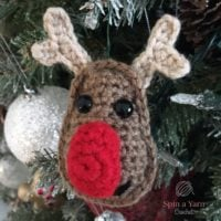 Easy Reindeer Ornament Crochet Pattern