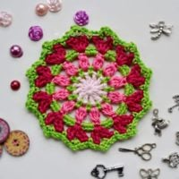 Featured at Wednesday Link Party 312 Elgin Cathedral Coaster Mandala Free Crochet Pattern