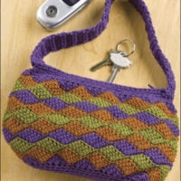 Entrelac Bag Crochet Pattern by Christina McMahon