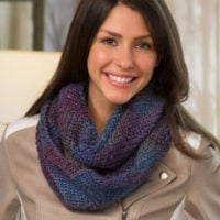 Entrelac Crochet Cowl Pattern by Marly Bird