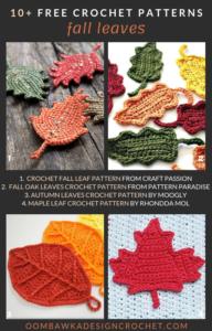 Fall Crochet Leaf Patterns Free Pattern Friday Roundup Oombawka Design Crochet