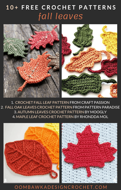 Fall Crochet Leaf Patterns Free Pattern Friday Roundup Oombawka Design Crochet