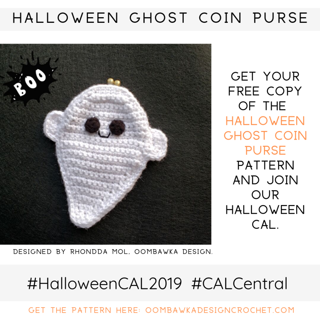 Halloween Ghost Coin Purse Pattern Oombawka Design Crochet