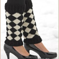 Harlequin Leg Warmers by Nadia Fuad