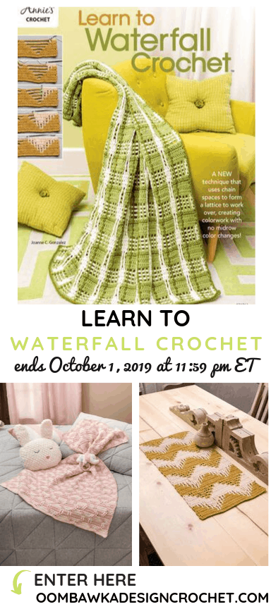 Learn to Waterfall Crochet eBook Giveaway ends October 1 2019