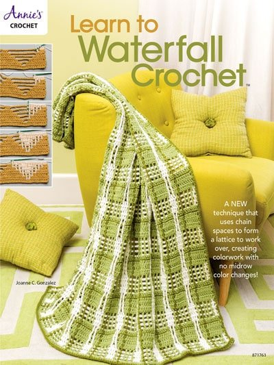Learn to Waterfall Crochet. Book Review Oombawka Design Crochet.