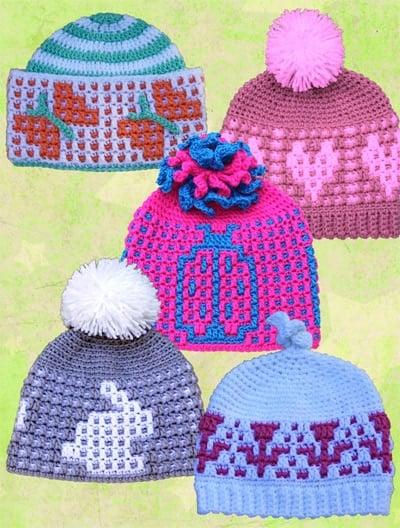 NewBabyGirlHats-ShadyLaneOriginal Review by Oombawka Design Crochet