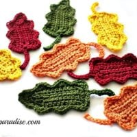 Fall Oak Leaves Crochet pattern