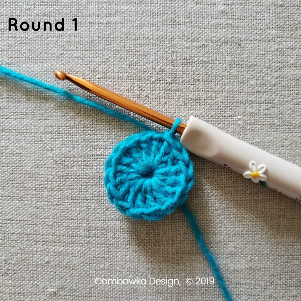 Round 1 Sweet and Simple Afghan Square Pattern Oombawka Design Crochet