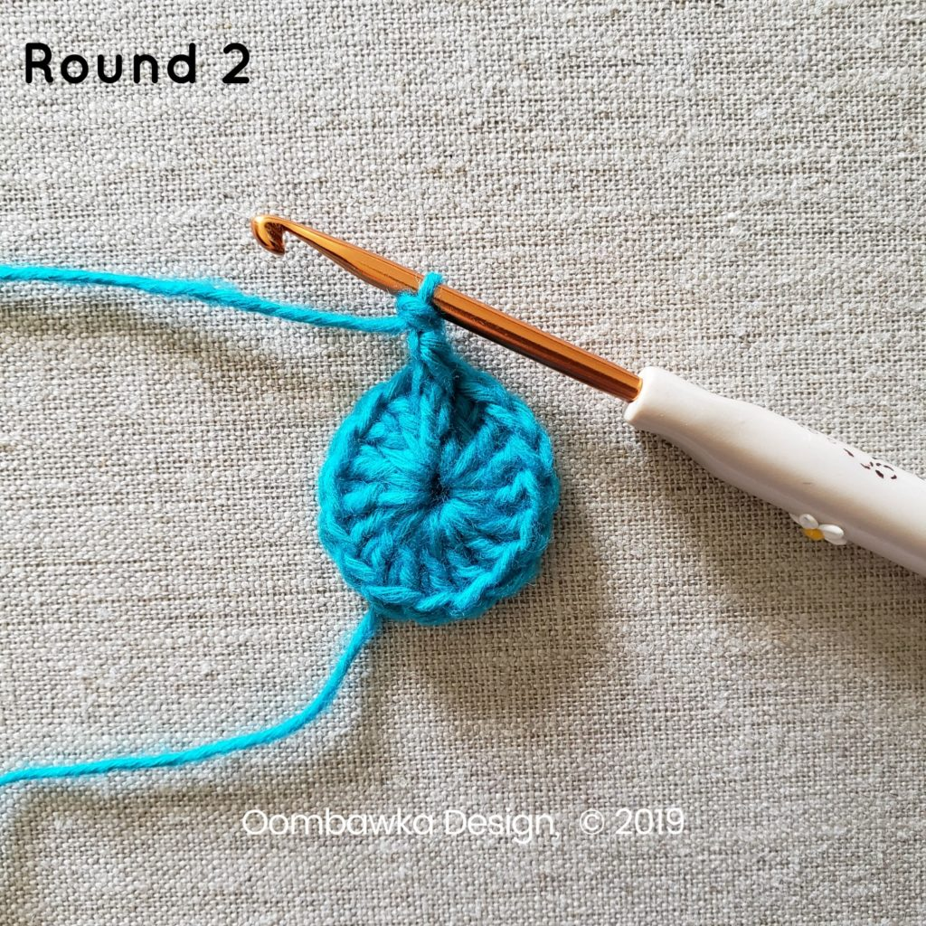 Round 2a Sweet and Simple Afghan Square Pattern Oombawka Design Crochet
