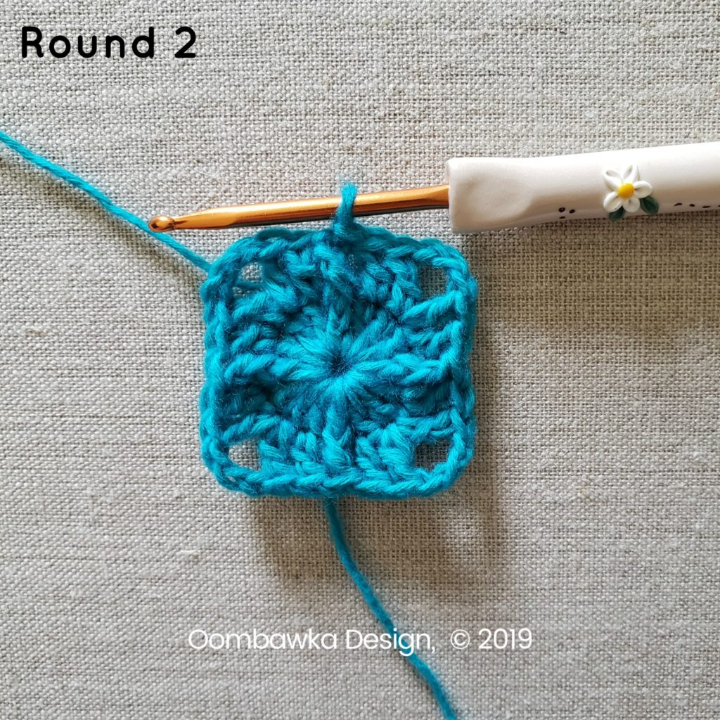 Round 2b Sweet and Simple Afghan Square Pattern Oombawka Design Crochet