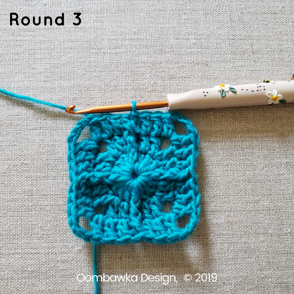 Round 3 Sweet and Simple Afghan Square Pattern Oombawka Design Crochet